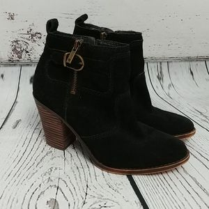 Lucky Brand Black Suede Leather Boots